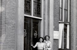 1943, Truus en Freddie bij Evacuatie Ziekenhuis Twenthe