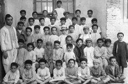 Groepsfoto: joden in Marokko