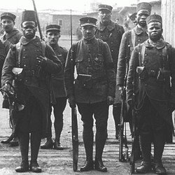 Afrikaanse soldaten.