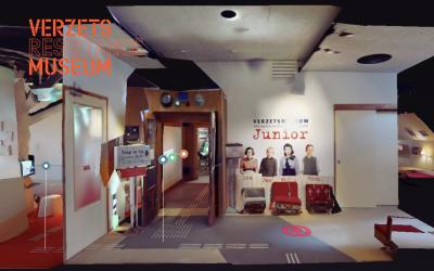 Ingang van Verzetsmuseum Junior in de VR-omgeving