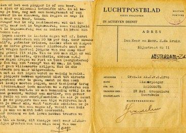 Luchtpostbrief van een soldaat