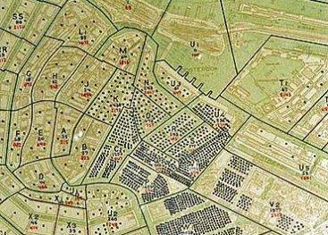 Stippenkaart met overzicht waar de Joden in Amsterdam wonen